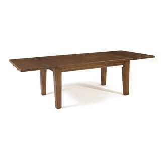 Broyhill Attic Rustic Oak Rectangular Leg Dining Table - Brown