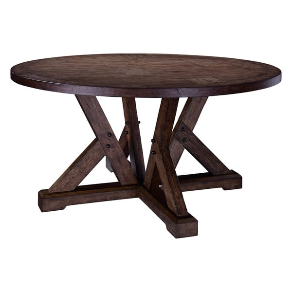 Broyhill Pieceworks Round Dining Table Brown Overstock 21620795