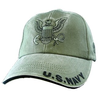 US Navy Anchor Logo Green Military Ball Cap