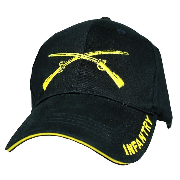 cd1f2c158407fa Shop US Army Infantry Embroidered Black Military Ball Cap - On Sale - Free  Shipping On Orders Over $45 - Overstock - 21620817
