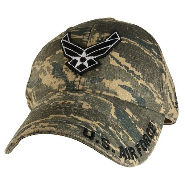 Shop US Air Force Wings Logo Camouflage Military Ball Cap - On Sale - Free  Shipping On Orders Over  45 - Overstock.com - 21620819 e43177e0e89