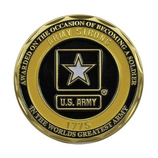 US Army Soldier 1775 Logo Double Sided Collectible Military Challenge Coin