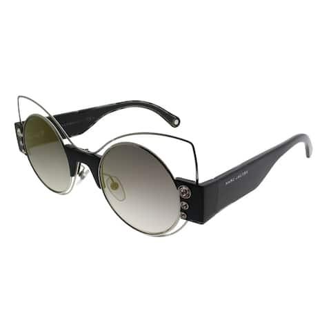 Marc Jacobs Cat-Eye MARC 1/S U4T Women Silver Black Frame Gold Mirror Lens Sunglasses