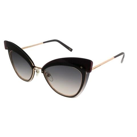 Marc Jacobs Cat-Eye MARC 100/S DDB 9C Women Gold Copper Frame Grey Gradient Lens Sunglasses