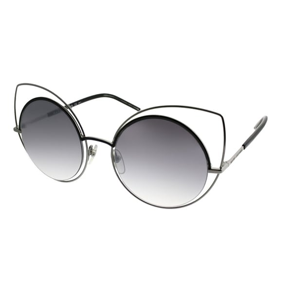 beb44aa193 Marc Jacobs Cat-Eye MARC 10 S 25K Women Ruthenium Shiny Black Frame Silver