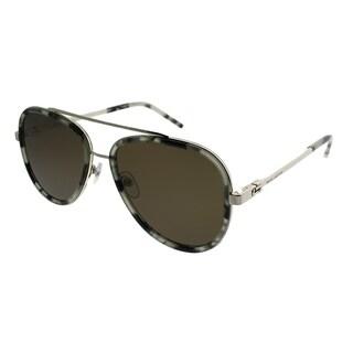 Marc Jacobs Aviator MARC 136/S QIV 8E Unisex Grey Havana Frame Brown Lens Sunglasses