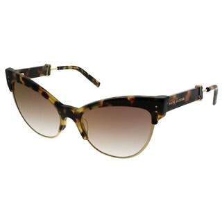 Marc Jacobs Cat-Eye MARC 128/S LSH JL Women Tortoise Gold Frame Gold Mirror Lens Sunglasses