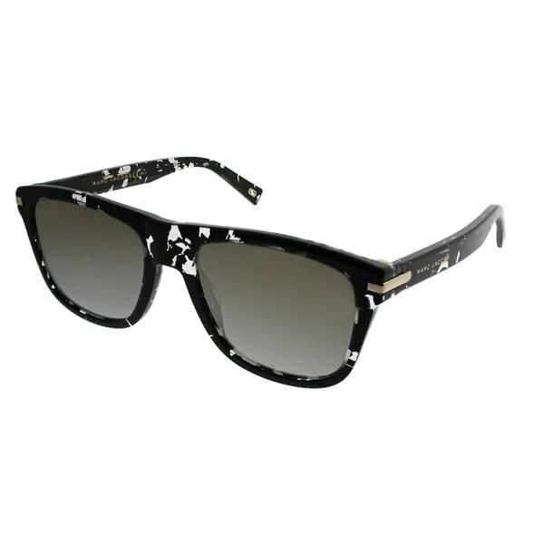 4743ff4e8e1 Marc Jacobs Rectangle MARC 185 s 9WZ 9F Unisex Crystal Black Havana Frame  Gold Mirror