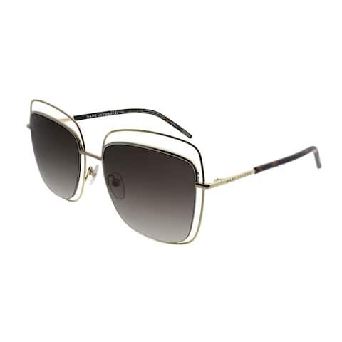2da2c2e543 Marc Jacobs Square MARC 9 S APQ Unisex Gold Dark Havana Frame Brown  Gradient Lens