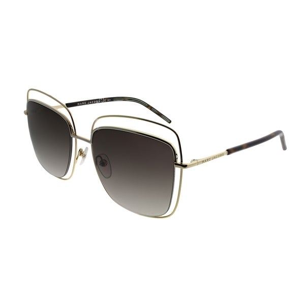 1e706952a4ec Shop Marc Jacobs Square MARC 9/S APQ Unisex Gold Dark Havana Frame Brown Gradient  Lens Sunglasses - Free Shipping Today - Overstock - 21620948
