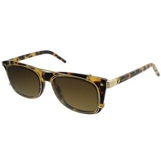 Marc Jacobs Rectangle MARC 17/S with Clip U63 Unisex Spotted Havana Frame Brown Gradient Lens Sunglasses