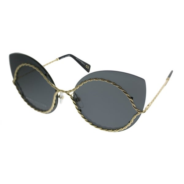 2c5ee9d69916 Marc Jacobs Cat-Eye MARC 161/S J5G Women Gold Frame Silver Mirror Lens