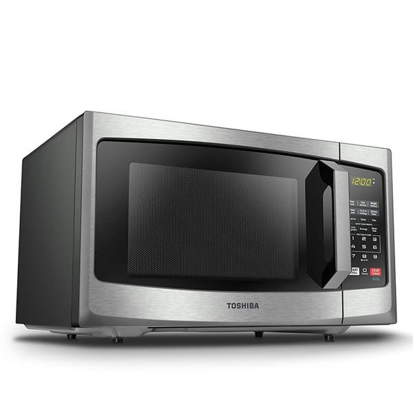 Toshiba 0 9 Cu Ft Stainless Steel Microwave Free