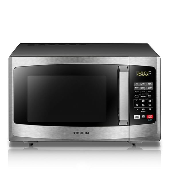Shop Toshiba 0 9 Cu  Ft  Stainless Steel Microwave - Free Shipping