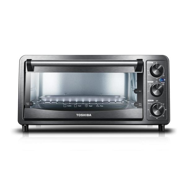 Toshiba 6 Slice Toaster Oven, Black Stainless Steel