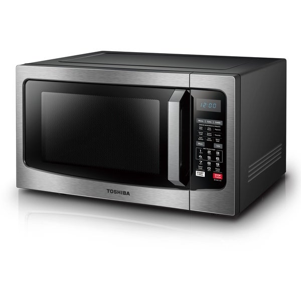 Toshiba 1 5 Cubic Foot Stainless Steel Convection Microwave Free Shipping Today 21621013