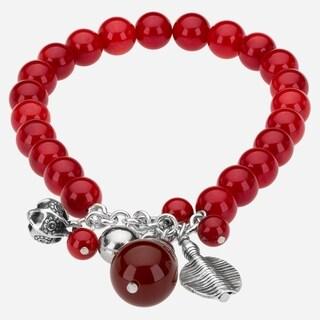 Tara Mesa Coral And Carnelian Charm Beaded Bracelet