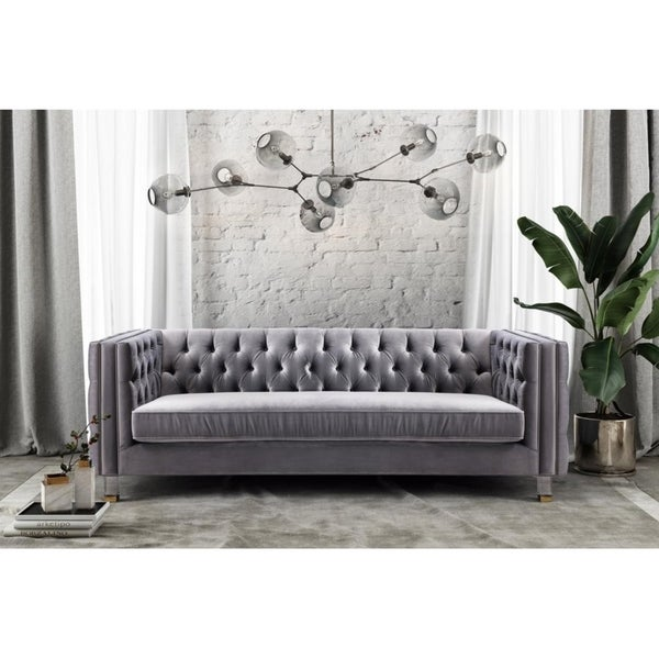 Marvelous Shop Rimini Grey Velvet Sofa Ships To Canada Overstock Download Free Architecture Designs Viewormadebymaigaardcom