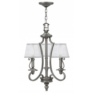Hinkley Plymouth 3-Light Chandelier in Polished Antique Nickel