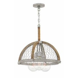 Buy hinkley lighting ceiling lights online at overstock our hinkley heywood 3 light chandelier in weathered zinc aloadofball Gallery