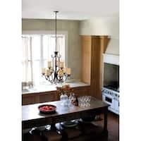 Hinkley Casa 9-Light Chandelier in Olde Black with Clear Seedy