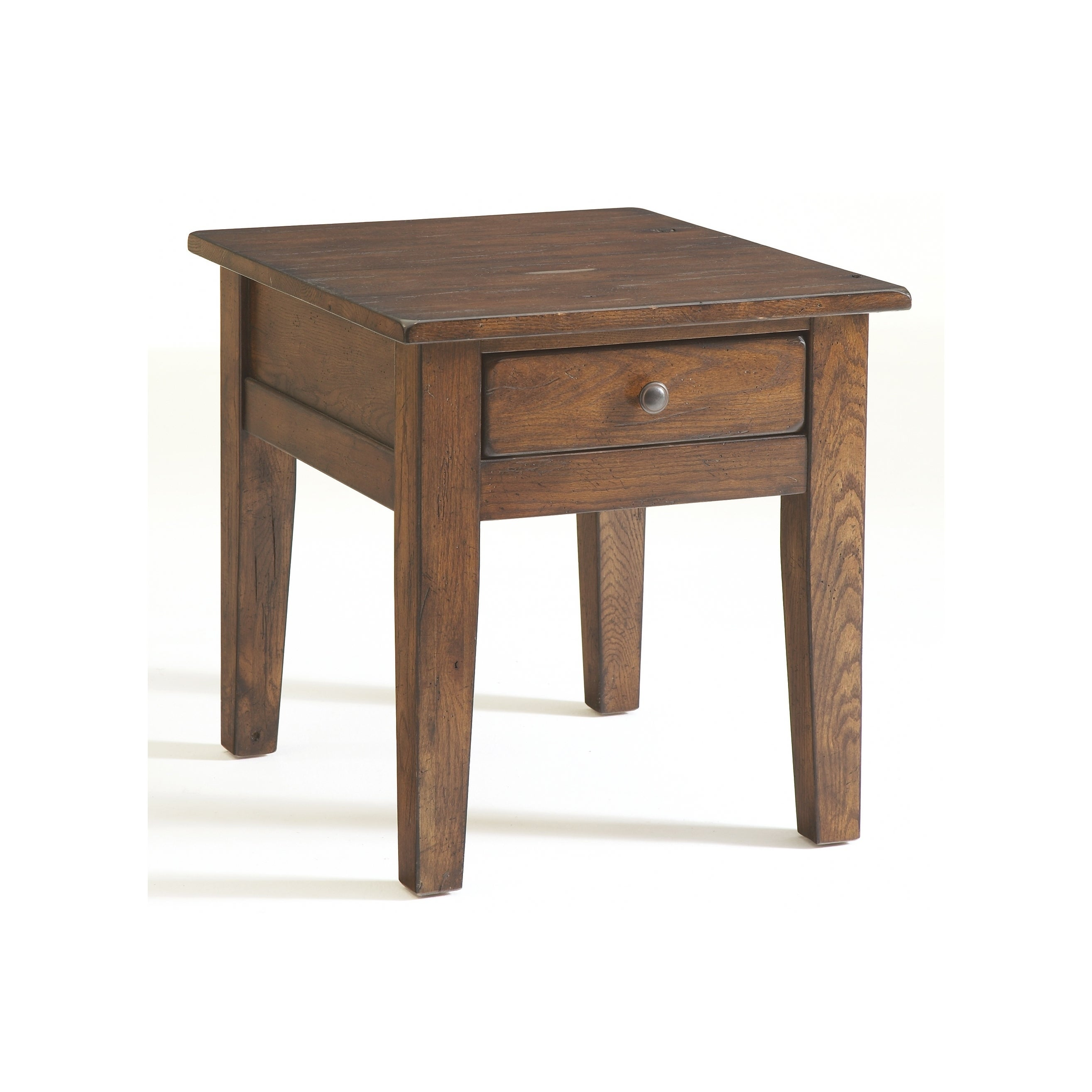 Picture of: Broyhill Attic Rustic Oak End Table Overstock 21621488