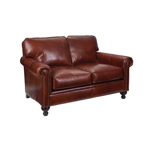 Admirable Laramie Leather Loveseat 67 Onthecornerstone Fun Painted Chair Ideas Images Onthecornerstoneorg