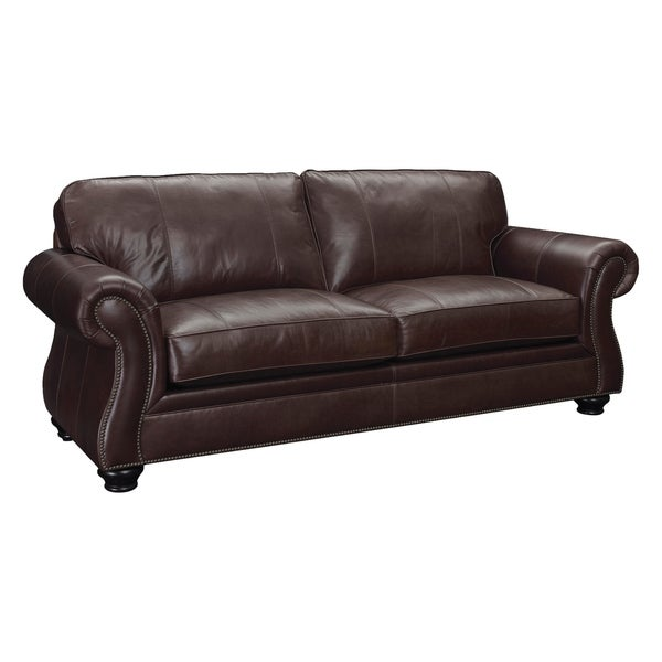 Leather Sofas Reviews: Shop Broyhill Laramie Leather Sofa