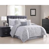 Carmela Home Boutique Damask 7-Piece Reversible Comforter Set