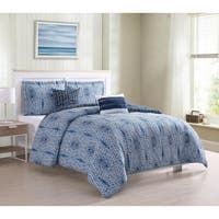Boho Living Darhma Aztec  5-Piece Reversible Comforter Set - Navy