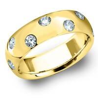 Amore 14K Yellow Gold 0.50 CTTW Etoile Diamond Ring