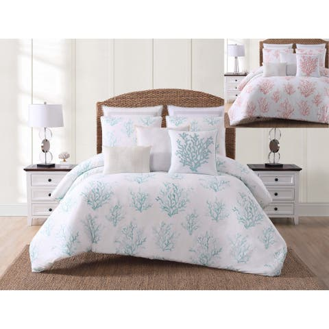 Oceanfront Resort Cove Printed 3 Piece Quilt Set