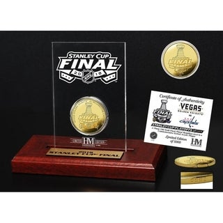2018 Stanley Cup Final Dueling Gold Coin Etched Acrylic (Vegas vs Washington)