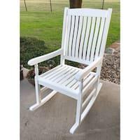International Caravan Highland Traditional Porch Rocking Chair