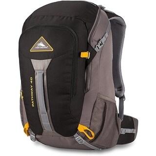 High Sierra Pathway 40L Backpack Black/Slate/Gold