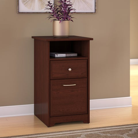 Bush Furniture Cabot 2 Drawer File Cabinet in Harvest Cherry