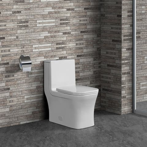 Swiss Madison SM-1T106 Concorde One Piece Square Dual 0.8/1.28 GPF Toilet