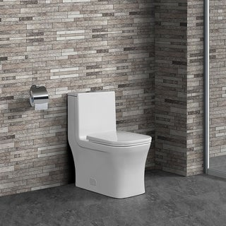 Swiss Madison Concorde One Piece Square Toilet Dual Flush 0.8/1.28 gpf
