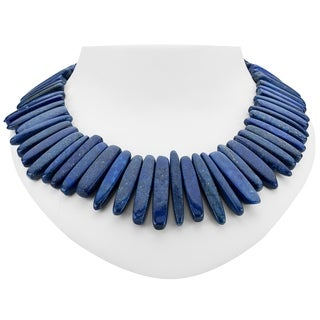 "Tara Mesa 19"" Brilliant Lapis Lazuli Beaded Necklace"