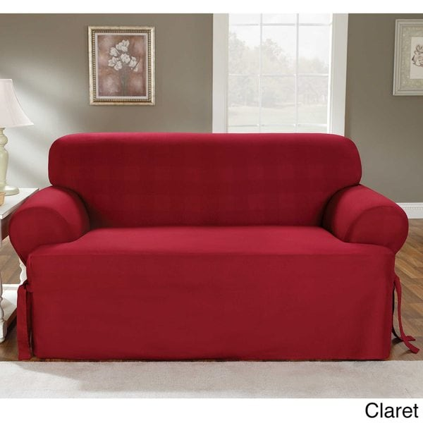 Sure Fit Cotton Classic TCushion Sofa Slipcover Free Shipping