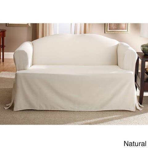 Sure Fit Cotton Classic T-Cushion Sofa Slipcover