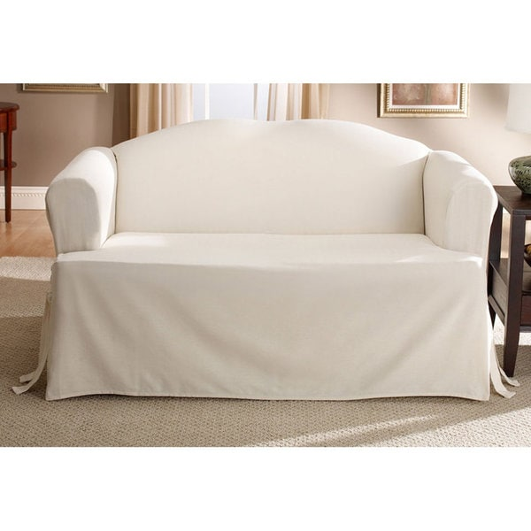 Sure Fit Cotton Clic T Cushion Sofa Slipcover