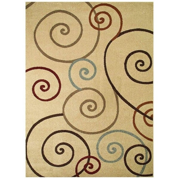 """Concord Global Chester Tendrils Ivory Area Rug - 5'3"""" x 7'3"""""""