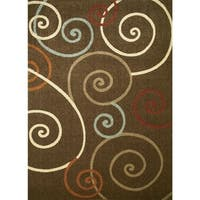 Concord Global Chester Tendrils Brown Area Rug - 7'10 x 10'6