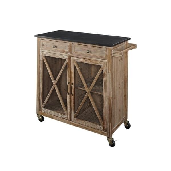 Shop Oakridge Two Kitchen Cart Ez Assembly Overstock 21623948