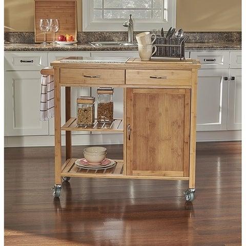 Talon Bamboo Kitchen Cart