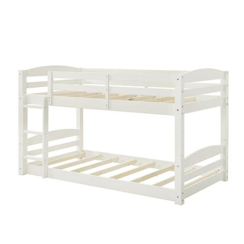 Avenue Greene Nola Twin Floor Solid Wood Bunk Bed