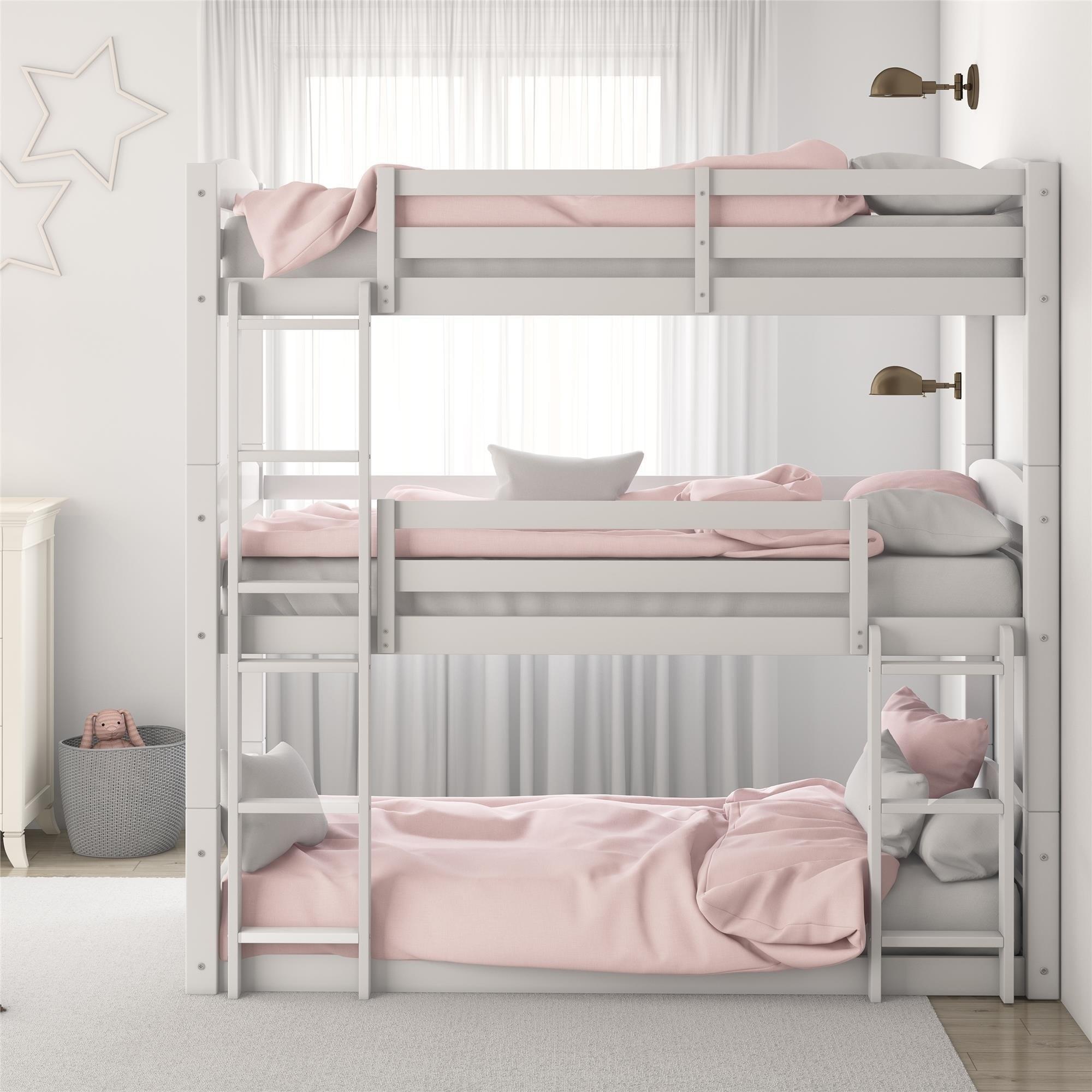Picture of: Avenue Greene Nola Solid Wood Triple Floor Bunk Bed Overstock 21624262