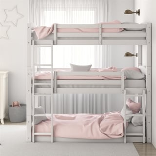 Link to Avenue Greene Nola Solid Wood Triple Floor Bunk Bed Similar Items in Kids' & Toddler Furniture