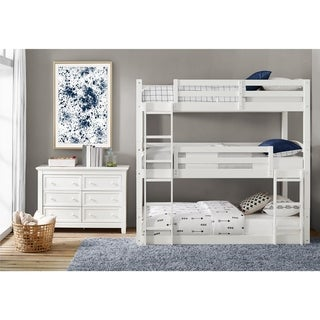 Top Product Reviews For Avenue Greene Nola White Triple Bunk Bed